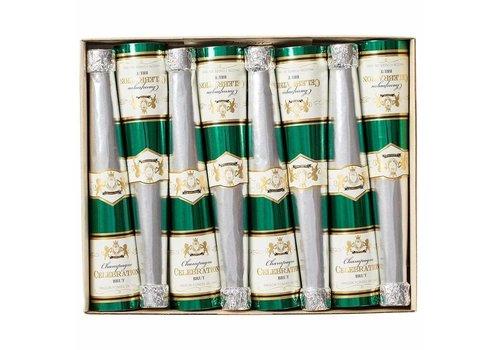 Caspari Champagne Bottle Cone Crackers