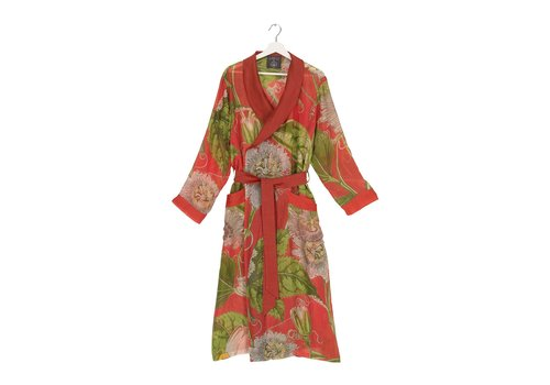 Coral Passion Flower Robe
