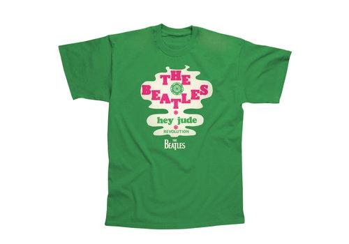 Spike Leisurewear The Beatles Hey Jude Revolution T Shirt Green