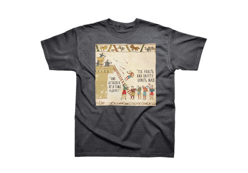 Spike Leisurewear Hysterical Heritage Health and Safety T-Shirt