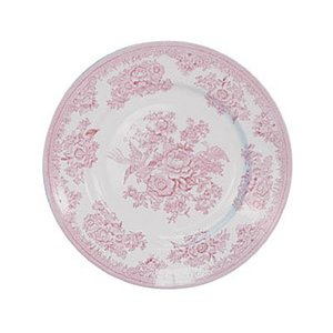 Burleigh Pottery Asiatic Pheasants Pink 8.5 in. Plate
