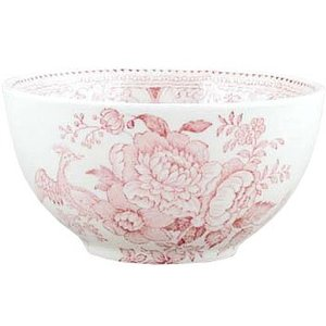 Burleigh Pottery Asiatic Pheasants Pink Large Sugar Bowl