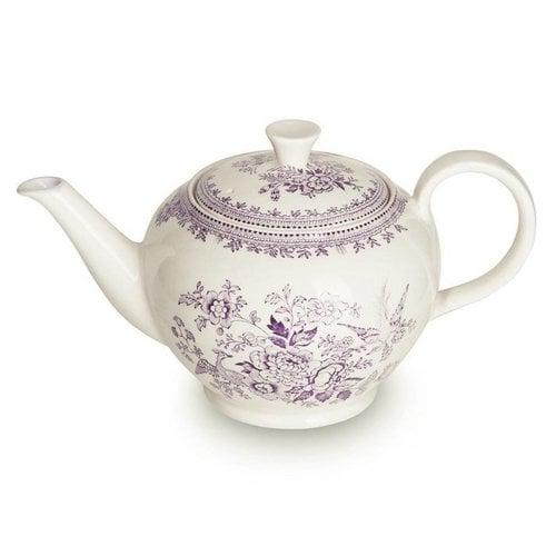 Burleigh Pottery Asiatic Pheasants Plum 7 Cup Teapot