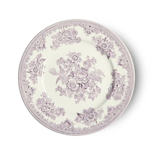 Burleigh Pottery Asiatic Pheasants Plum 7 in. Plate