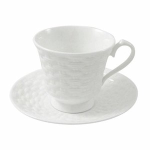 Aynsley China Aynsley Basketweave Teacup and Saucer