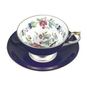 Aynsley China Aynsley Pembroke Athens Teacup and Saucer - Blue
