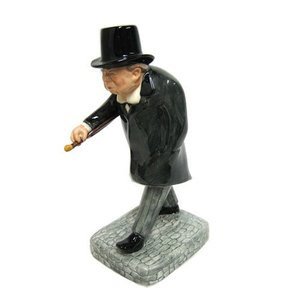 Bairstow Manor Pottery Man of the Century Winston Churchill Statuette