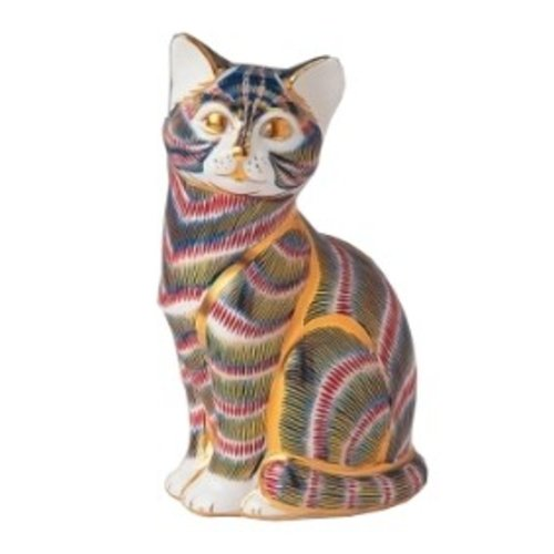 Royal Crown Derby Striped Cat