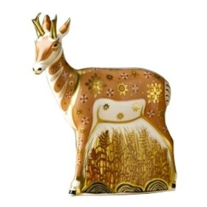 Royal Crown Derby Pronghorned Antelope