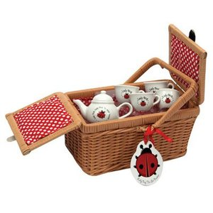 Schylling Schylling Lady Bug Tea Set and Basket