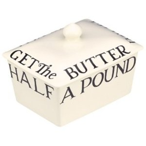 Emma Bridgewater Bridgewater Black Toast Butter Dish