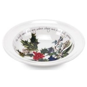 Portmeirion Holly & Ivy Oatmeal/ Soup Bowl
