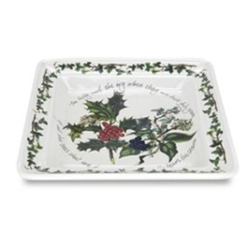 Portmeirion Holly & Ivy Square Salad Plate