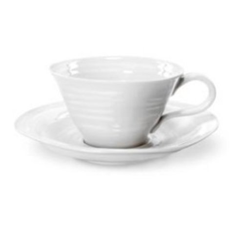 Portmeirion Sophie Conran Teacup & Saucer - White