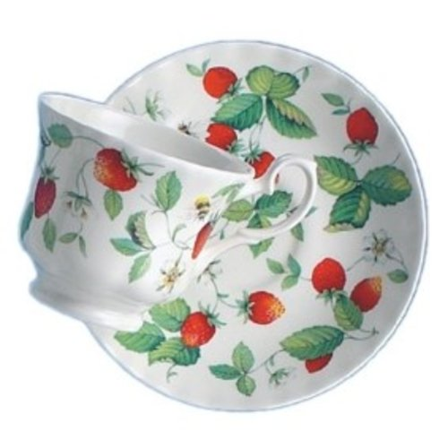 Alpine Strawberry Teacup & Saucer