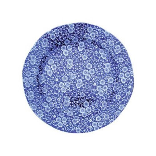 Burleigh Pottery Calico Blue 7.5 in. Plate