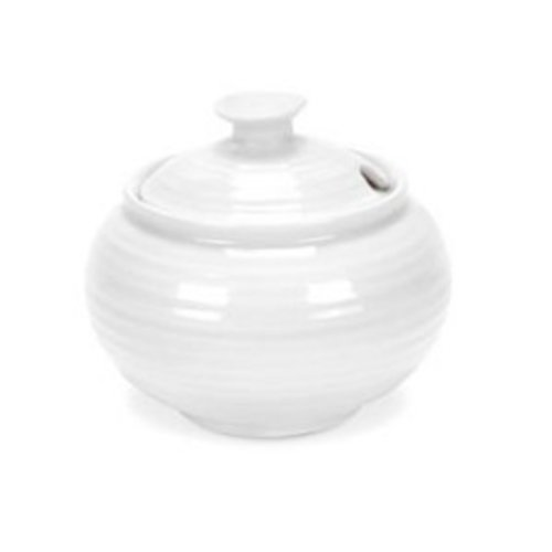 Portmeirion Sophie Conran Covered Sugar Pot - White