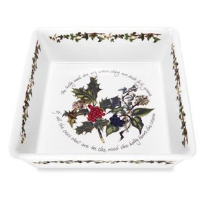 Portmeirion Holly & Ivy Deep Square Dish