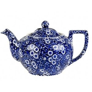 Burleigh Pottery Calico Blue 7 Cup Teapot