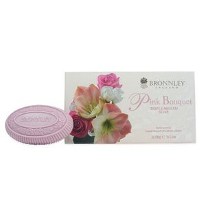Bronnley Bronnley Pink Bouquet Luxury English Soap, Box of Three