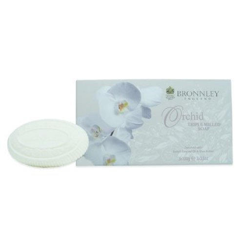 Bronnley Bronnley Orchid Box of 3 Soaps