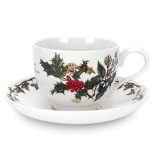 Portmeirion Holly & Ivy Teacup & Saucer