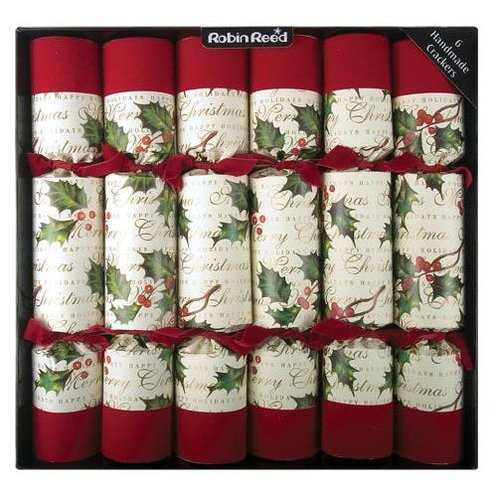 Robin Reed Robin Reed Bows and Berries Christmas Crackers- 6 Count