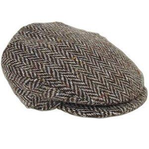 Hanna Hats Grey Tweed Cap Small