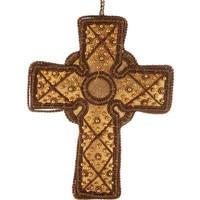 St. Nicolas Gold Celtic Cross Ornament