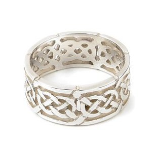 Ortak Silver Celtic Knot Ring R132