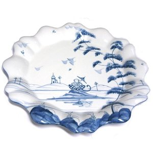 Isis Ceramics Isis Blue Playful Monkeys - Clement - Fluted Dish
