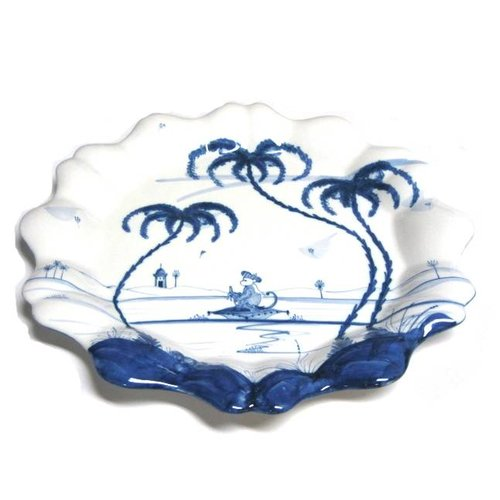 Isis Ceramics Isis Blue Playful Monkeys - Fife - Fluted Dish