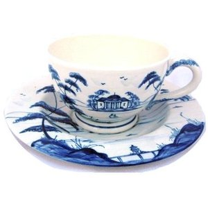 Isis Ceramics Isis Blue Palladian Teacup and Saucer