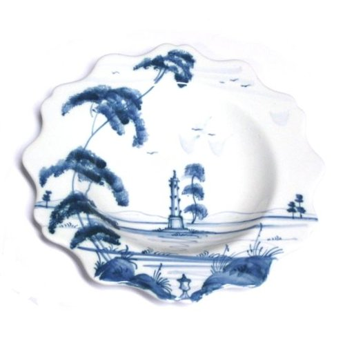 Isis Ceramics Isis Blue Palladian - Commemorative Monument - Scallop Tea Plate