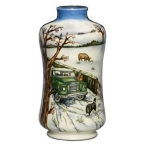 Moorcroft Pottery Winter Feed Vase