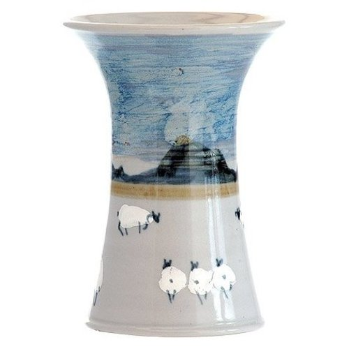 Highland Stoneware Highland Stoneware Sheep Small Cylinder Vase