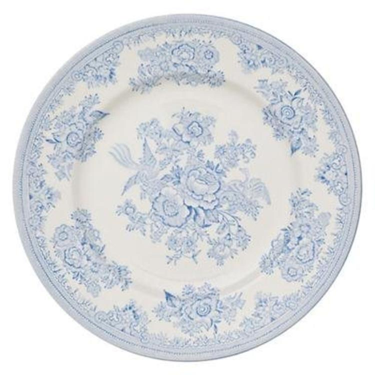 Burleigh Pottery Asiatic Pheasants Blue 10 in. Plate