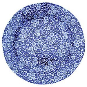 Burleigh Pottery Calico Blue 10.5 in. Plate
