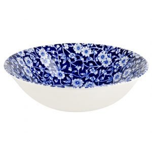 Burleigh Pottery Calico Blue Cereal Bowl