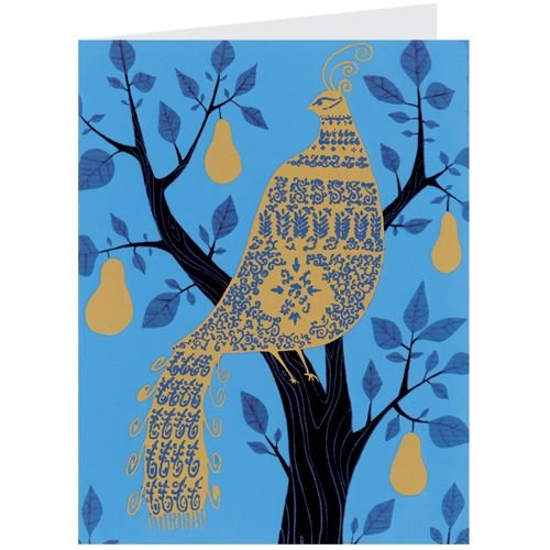Gold Partridge in Pear Tree - Christmas Cards