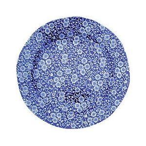 Burleigh Pottery Calico Blue 8.5 in. Plate