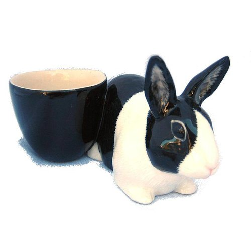 Quail Ceramics Quail Dutch Rabbit with Egg Cup