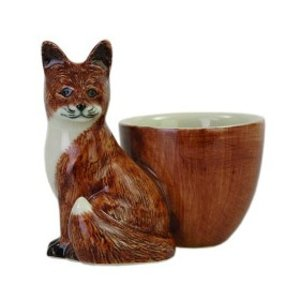 Quail Ceramics Quail Fox with Egg Cup