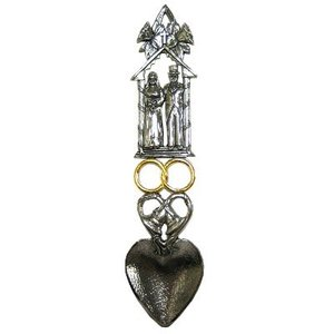 A E Williams Pewter Lovespoon - Med