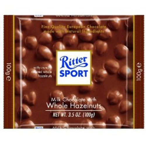 Ritter Sport Ritter Sport Milk Chocolate with Whole Hazelnuts