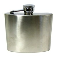 Concord Satin Finished Stainless Steel Flask - 4oz