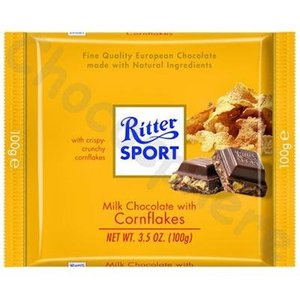 Ritter Sport Ritter Sport Milk Chocolate with Cornflakes