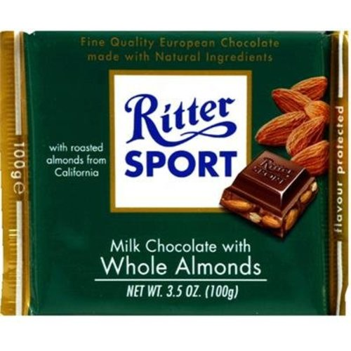 Ritter Sport Ritter Sport Milk Chocolate with Whole Almonds