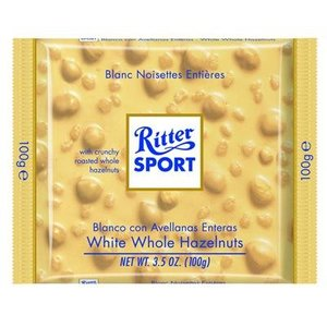 Ritter Sport Ritter Sport White Chocolate with Whole Hazelnuts