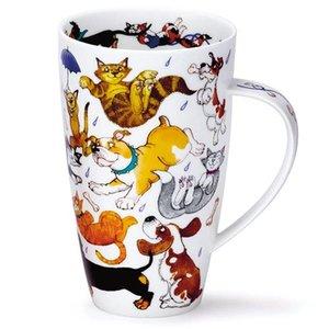 Dunoon Henley Raining Cats and Dogs Mug